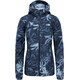 The North Face W's Flyweight Hoodie TNF Black Exploded Lupine Print